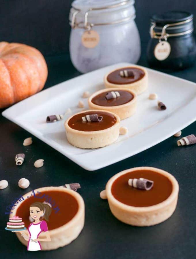 White Chocolate Pumpkin Caramel Tarts