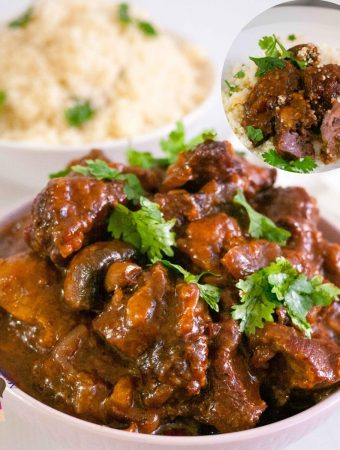 Slow cooked Beef called Burgundy or Bourguignon or bourgignon
