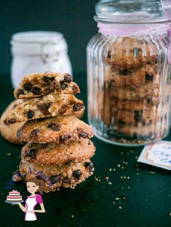 This chocolate chip cookie jar makes a perfect Christmas Gift for family and friends. Filling the jar is simple easy and effortless with easy to find ingredients. And a chocolate chip cookie is always everyone's favorite treat any time of the year.