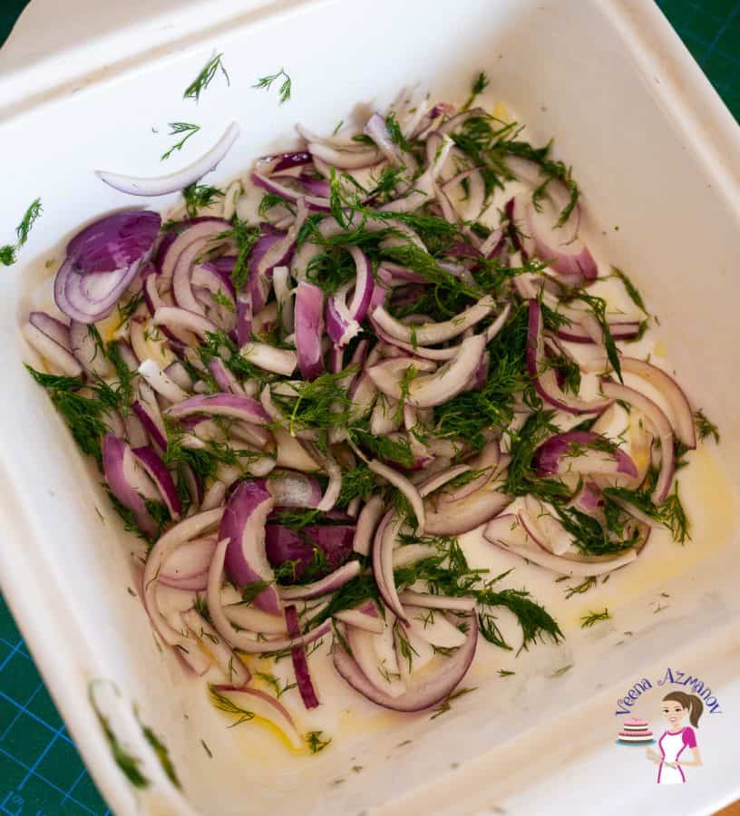 Combine the onions and all marinade ingredients