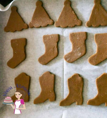 These Gingerbread Sugar Cookies are perfect for this time of the year weather you want to eat them as is or decorate them. Unlike regular gingerbread cookies these do not spread which makes them perfect for decorating with fondant and adding them to the cookie hamper.