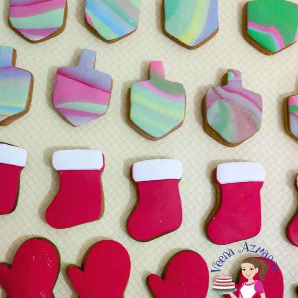 fondant decorated sugar cookies