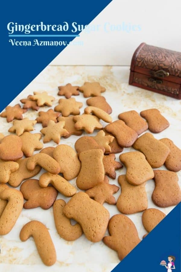 Pinterest image for gingerbread cookies