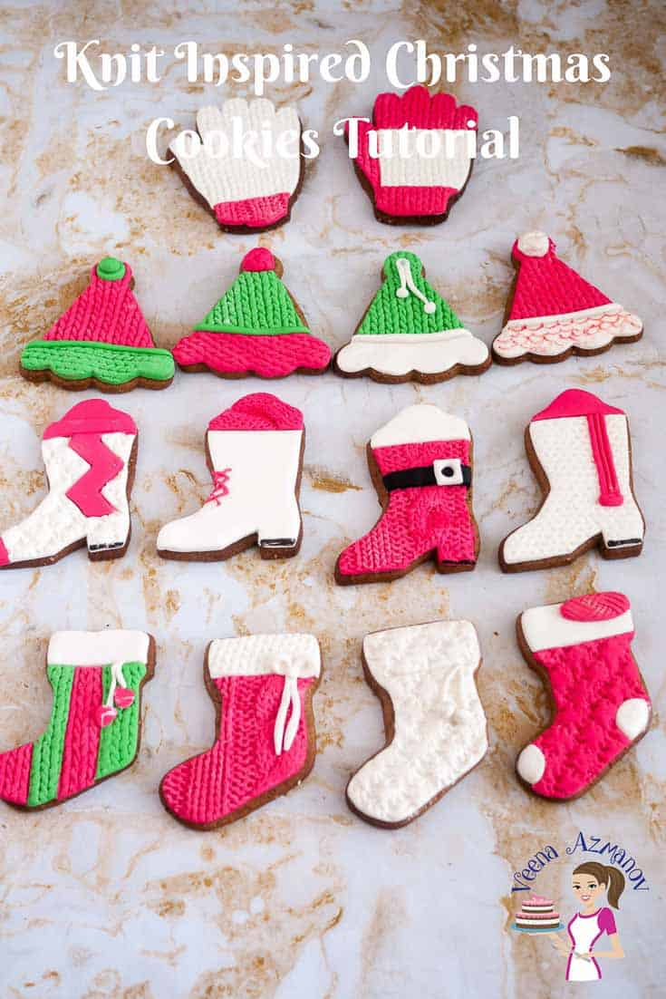 Knit Inspired Christmas Cookies Tutorials Veena Azmanov