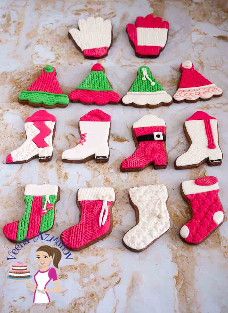 Knit Inspired Christmas Cookies Tutorials
