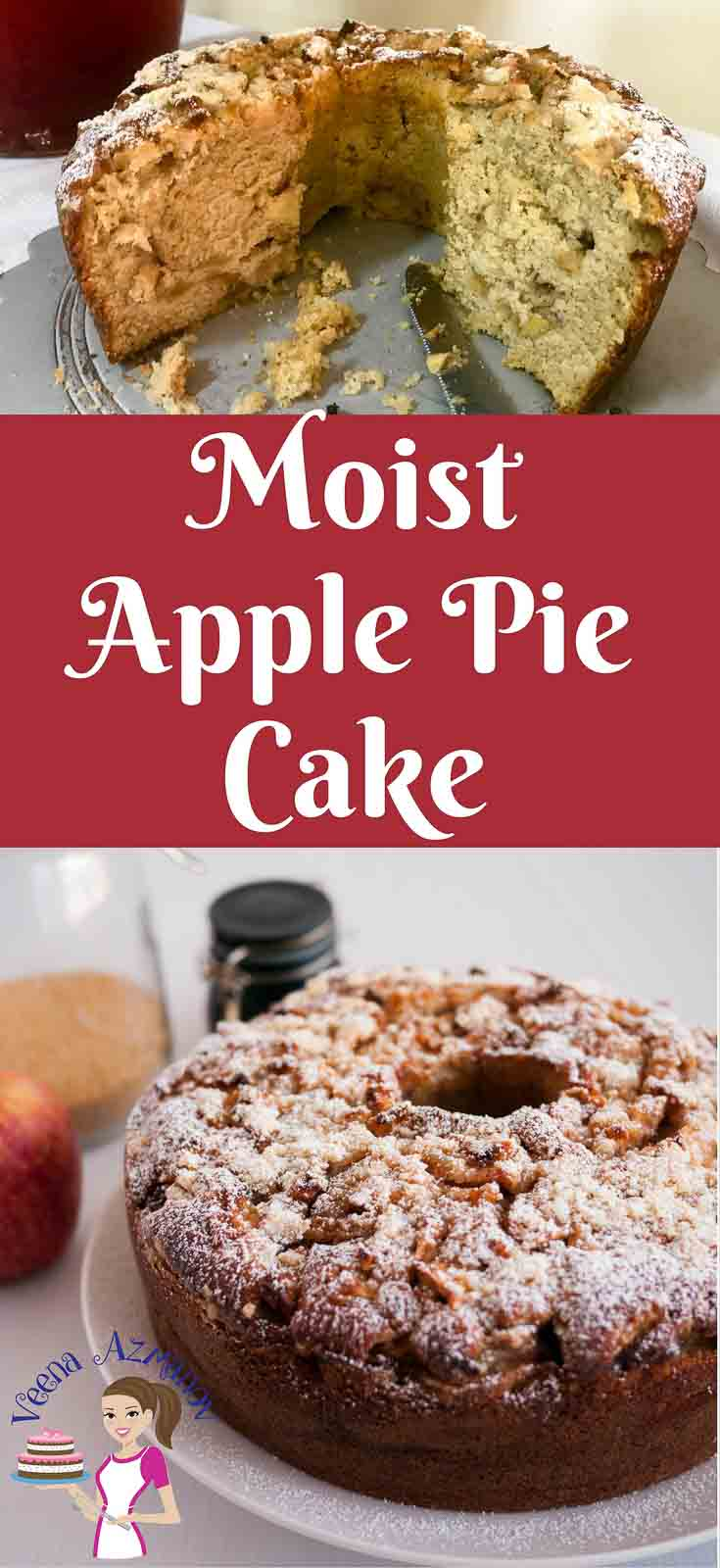 This delicious moist apple pie cake is an absolute treat in fall with juicy apple pie filling flavored with exotic spices of cinnamon, ginger and nutmeg baked in a smooth cream cheese cake batter. Then topped with crumble topping for that ultimate crisp.