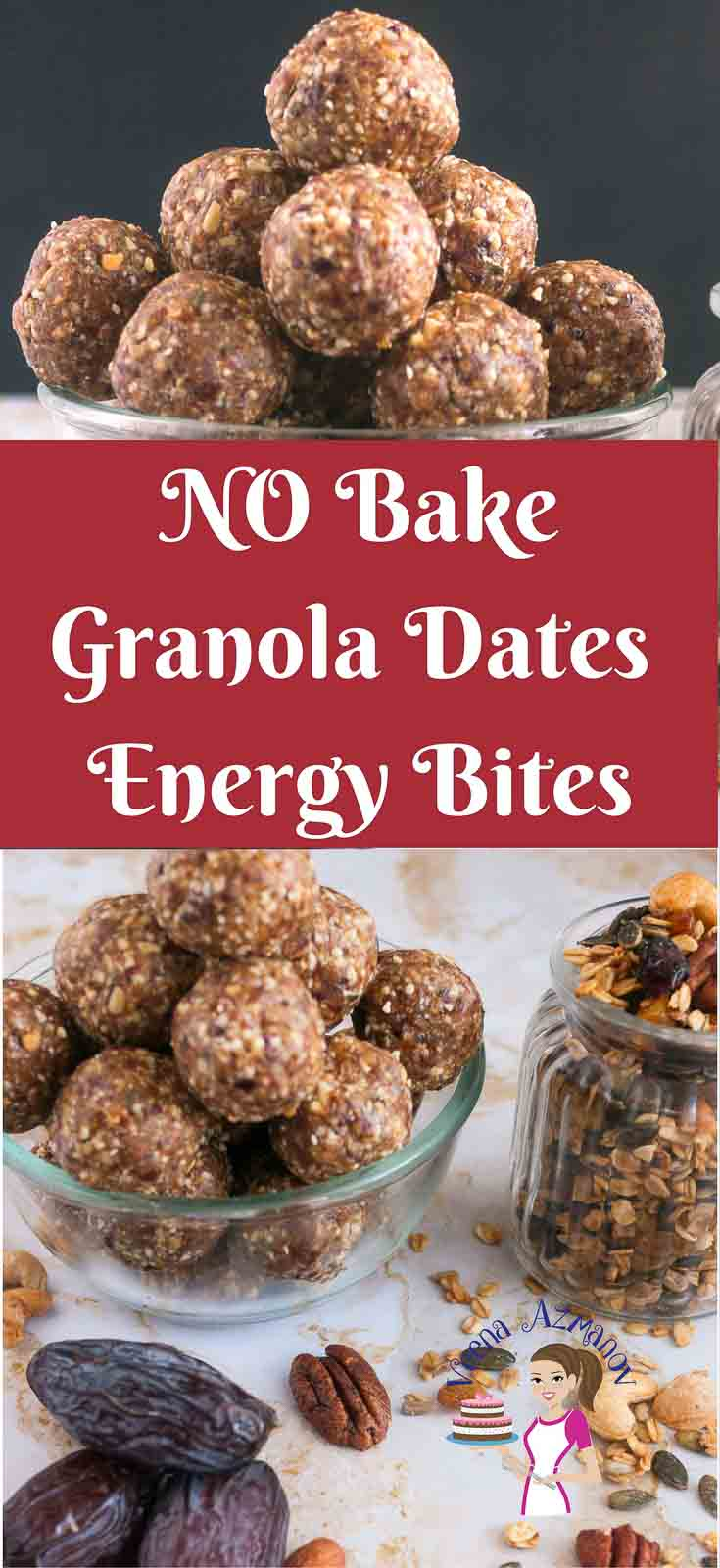 These no bake sugar free granola dates energy bites make great snack for those evening hours when you crave for something sweet and indulgent like cookies. The sweetness of the dates and added nutrition from the nuts make these a great light, nutritious energy packed snack before workouts too.