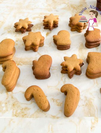 Use this no-spread gingerbread dough to decorate sugar cookies this Christmas