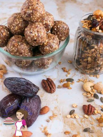 These no bake sugar free granola date energy bites make great snack for those evening hours when you crave for something sweet and indulgent like cookies. The sweetness of the dates and added nutrition from the nuts make these a great light, nutritious energy packed snack before workouts too.