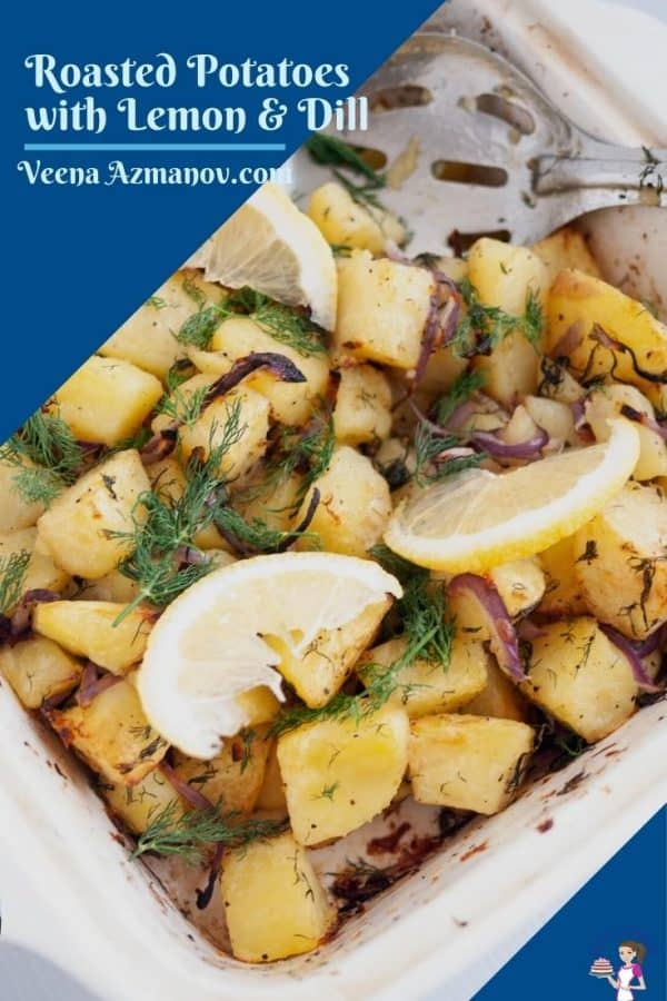Pinterest image for roasted potatoes