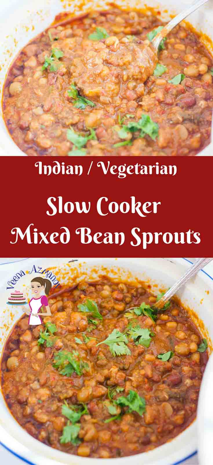 The mixed bean sprouts cooked long and slow in a slow cooker make a great meal over steamed white rice. Flavored with sweet smoky chilly peppers and cumin; cooked with creamy coconut cream for that delicious sweet spicy scrumptious meal.