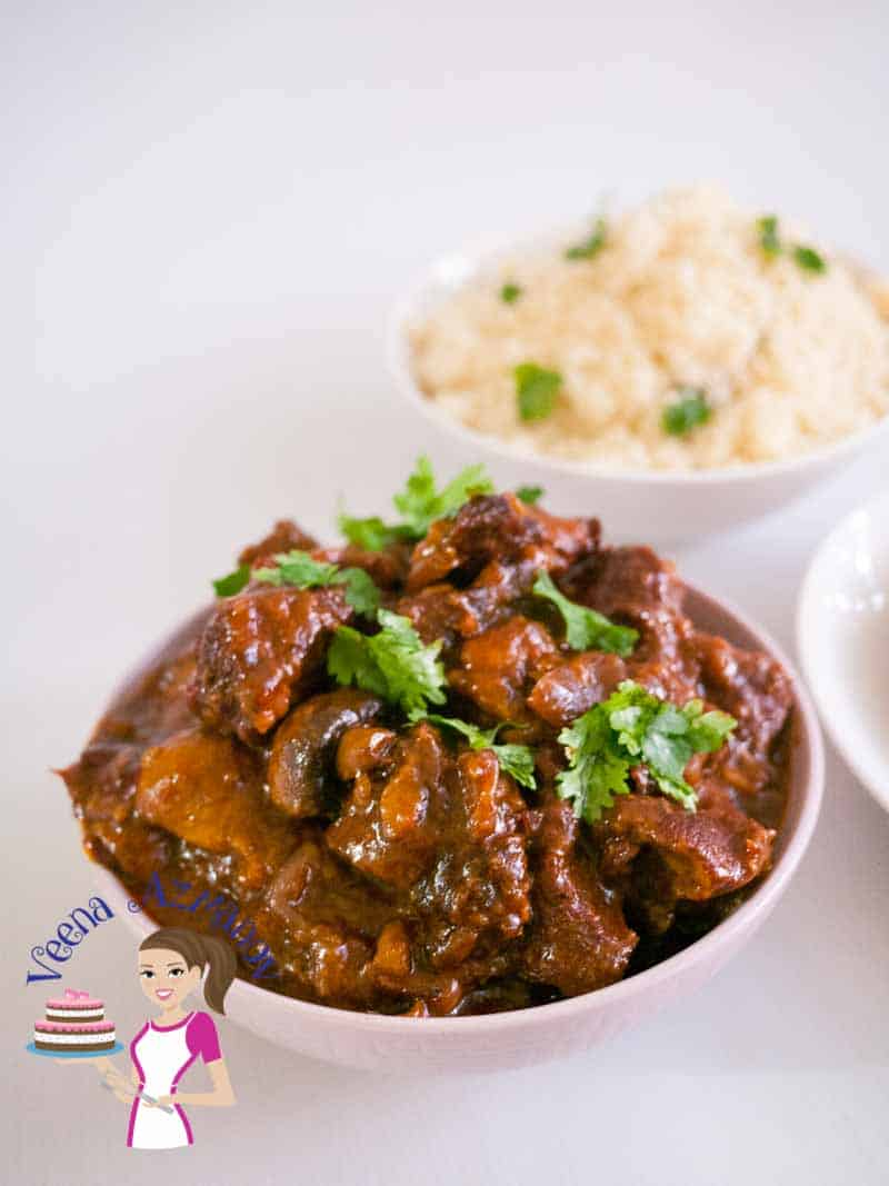 Slow Cooked Beef with Mushrooms and Red Wine Recipe