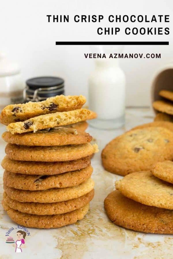 How to make chocolate chip cookies that are crips and thin rather than soft and chewy?
