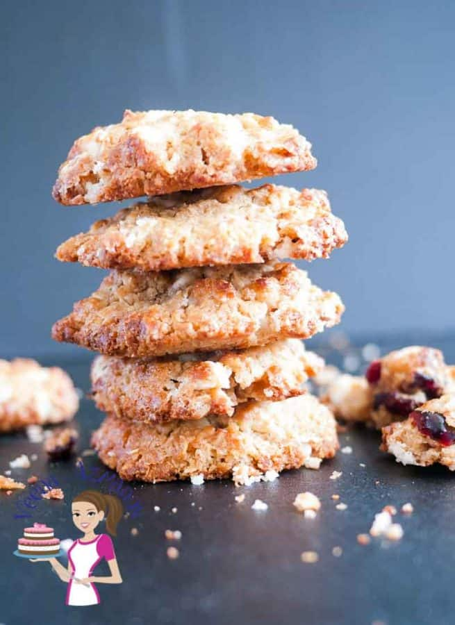 These chocolate chip cranberry cookies make an excellent treat with the tart dried cranberries in combination with the sweet melt in the mouth white chocolate chips. This simple, easy and effortless recipes gets cookies on the table in 30 minutes.