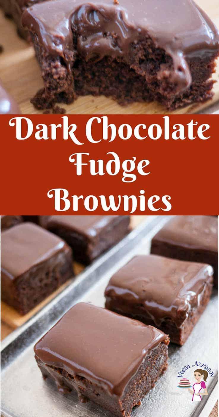 Dark Chocolate Fudge Brownies Veena Azmanov