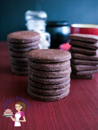 Eggless Chocolate Sugar Cookies Recipe
