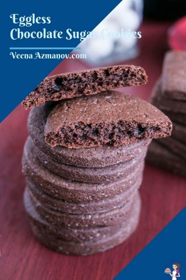Pinterest image for eggless sugar cookiesn
