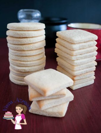 Eggless Vanilla Sugar Cookies Recipe – Egg less Baking