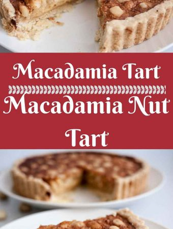 This macadamia tart is an absolute treat loaded with heavenly macadamia nuts and creamy luxurious golden filling baked in a buttery homemade short crust pastry. A simple, easy and effortless recipe that can be done in less than an hour from scratch.