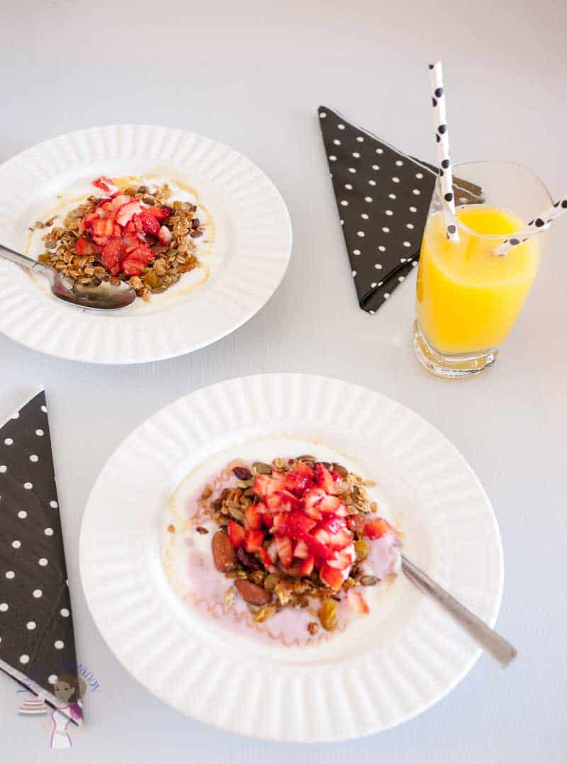 Yogurt Parfait for Two for Valentine's Day Breakfast - Veena Azmanov