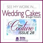 A banner for wedding cake decorating magazine.