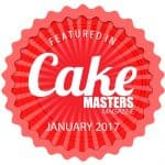 A banner for Cake Masters magazine.