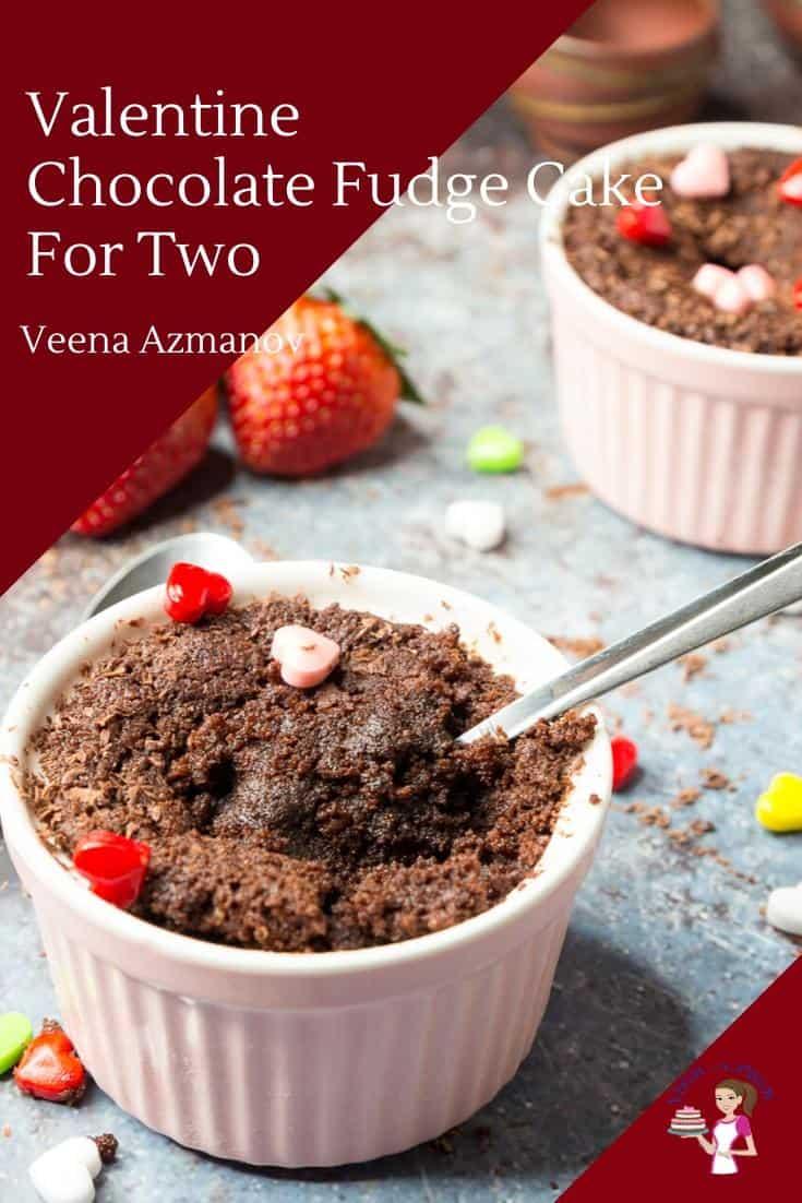 Chocolate Fudge Cake Valentine Dessert For Two