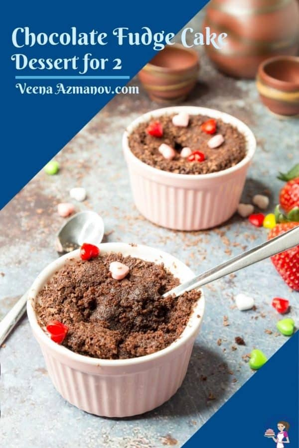 Pinterest image for chocolate fudge cake