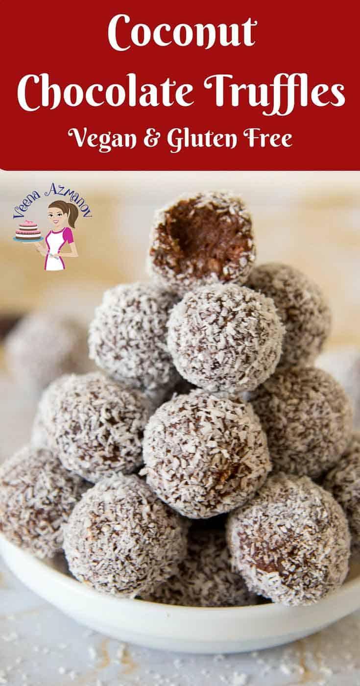 Coconut Chocolate Truffles aka Coconut Truffles - Veena ...