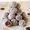 A stack of coconut truffles