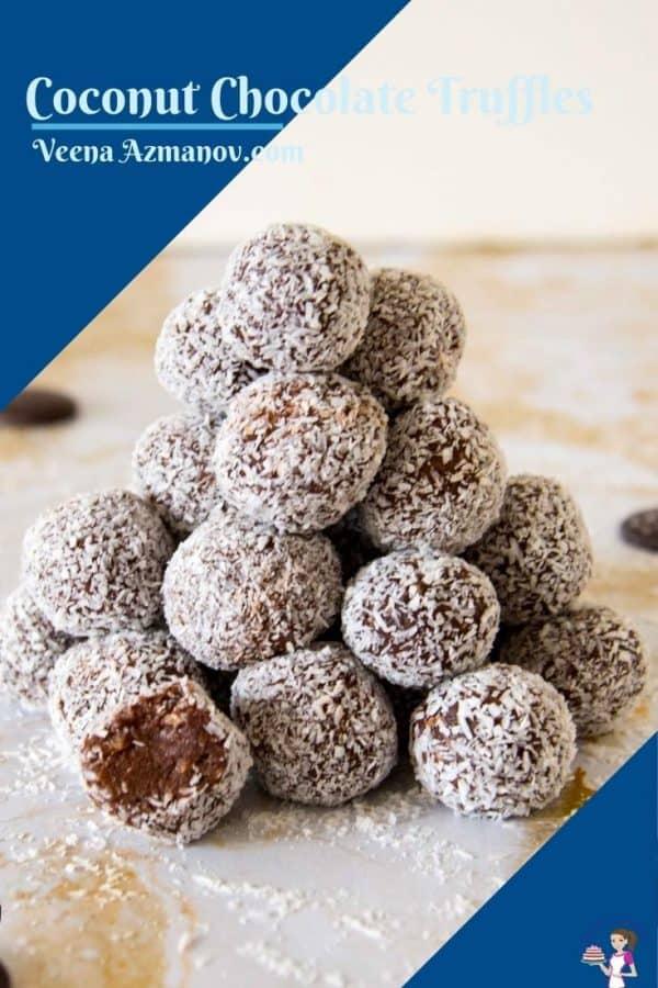 Pinterest image for truffles