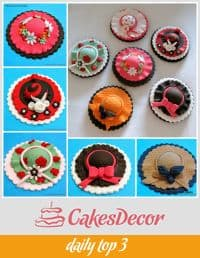 A collection of cupcake toppers.
