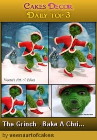 The grinch made of gum paste.