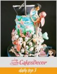 A cake decorated in the Jolly Sailor Bold theme.