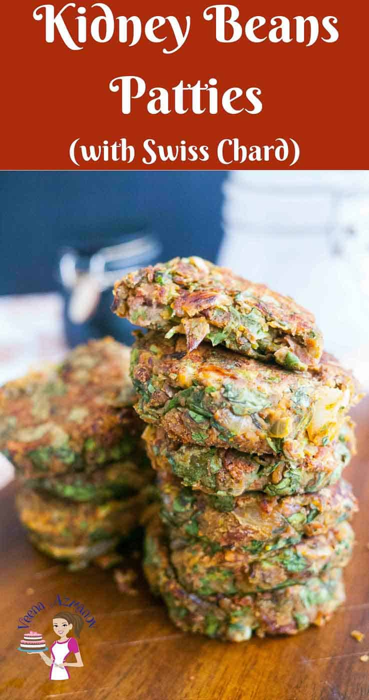 A stack of kidney beans patties.