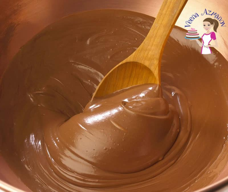 Mixing chocolate mousse in a bowl.