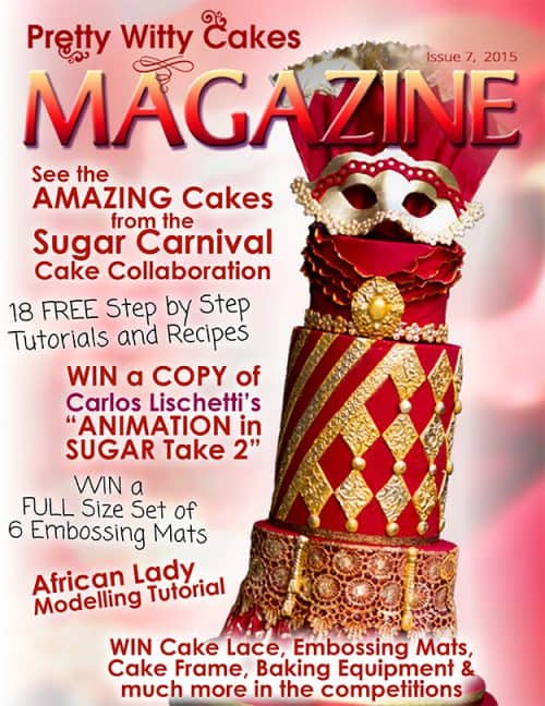 A cover of a cake decorating magazine.