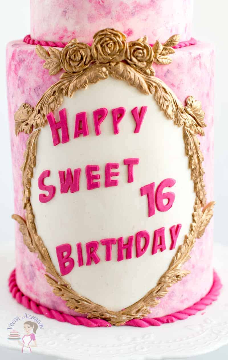 Fabulous Pink Sweet Sixteen Birthday Cake With Sugar Gardenias Veena Azmanov Funny Birthday Cards Online Kookostrdamsfinfo