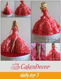 A princess doll cake.