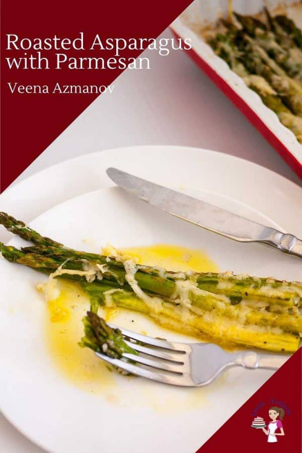 How to make and asparagus side dish with parmesan roasted in the oven.