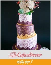 A topsy turvy cake.