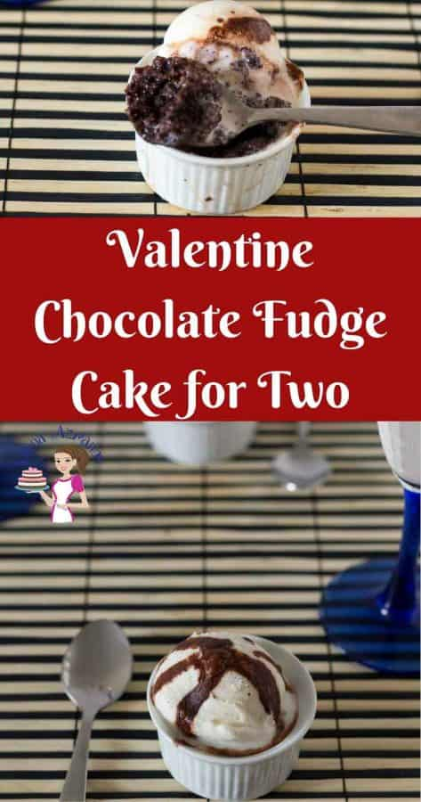 Chocolate makes a perfect Valentine's Day dessert for two like these Chocolate Fudge Cake for two. Simple, easy and effortless recipe makes just the right amount for valentine's day dessert. Bake these ahead to serve room temperature, better yet serve these warm with a dollop of vanilla ice cream and chocolate sauce.