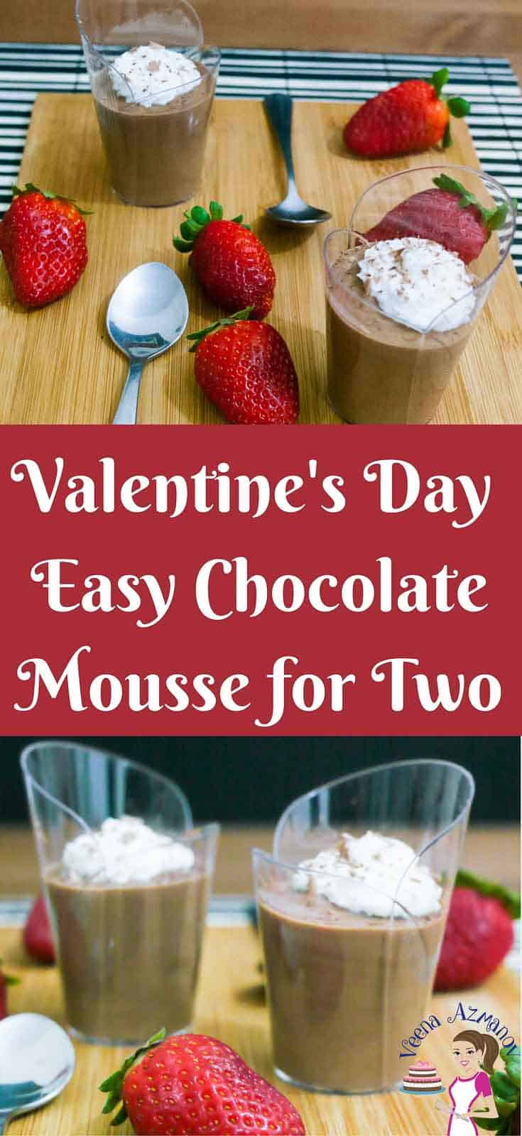 Easy Chocolate Mousse For Two Valentine S Day Dessert For Two