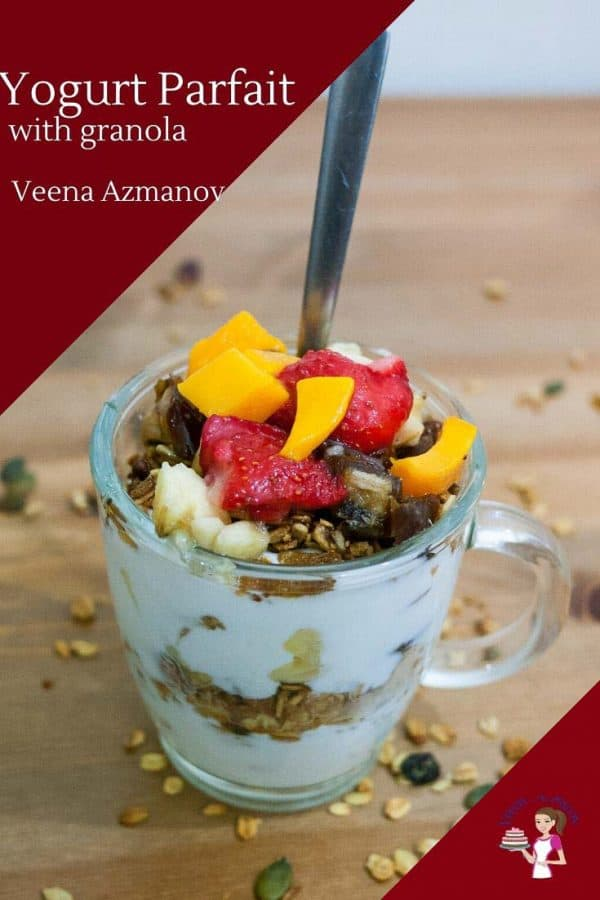 How to make a parfait for breakfast with yogurt and granola