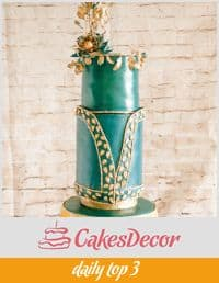 A cake decorated in a Zuhair Mural fashion theme.