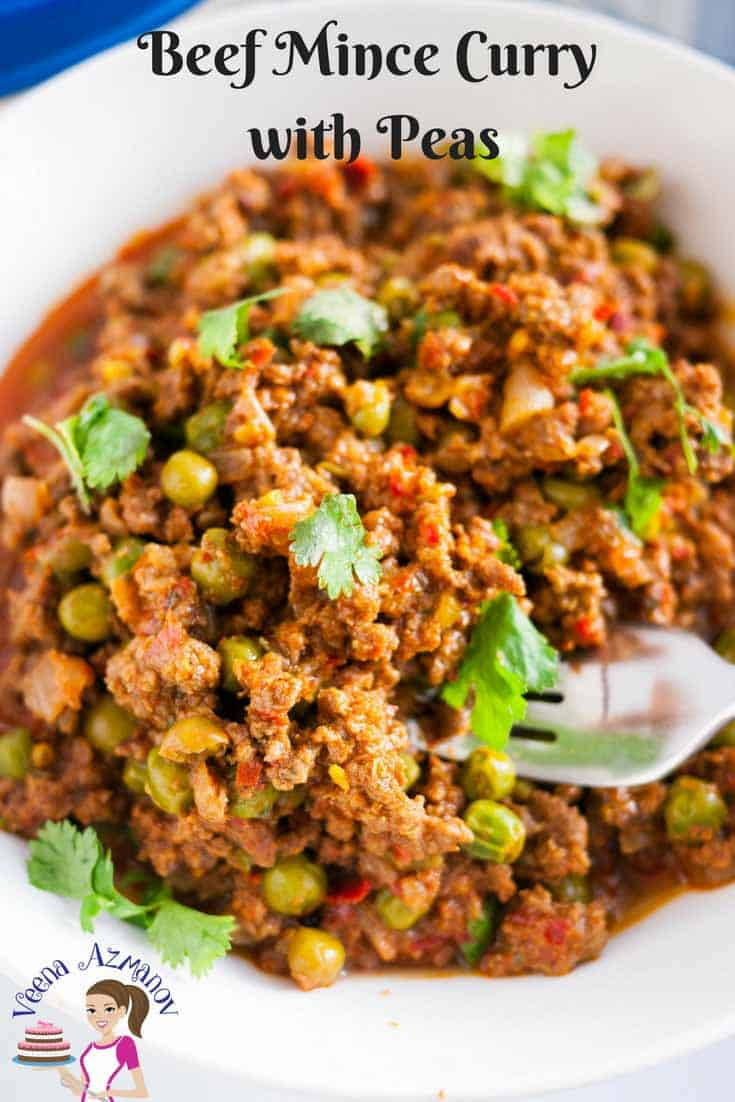 Pinterest Optimized Image for Beef Mince Curry with Peas - This kheema mattar masala is a classic Indian meat dish.