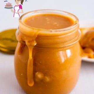 A jar of caramel filling.