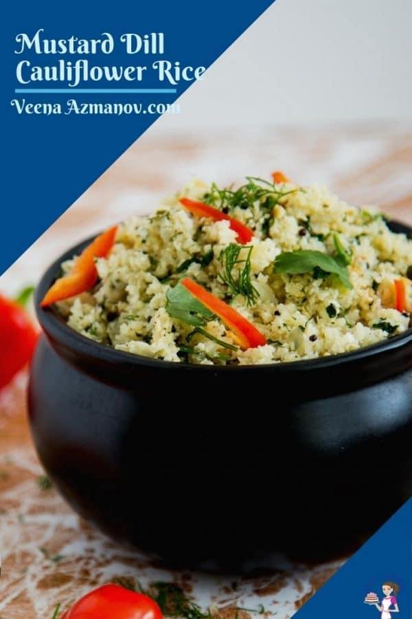 Pinterest image for cauliflower rice