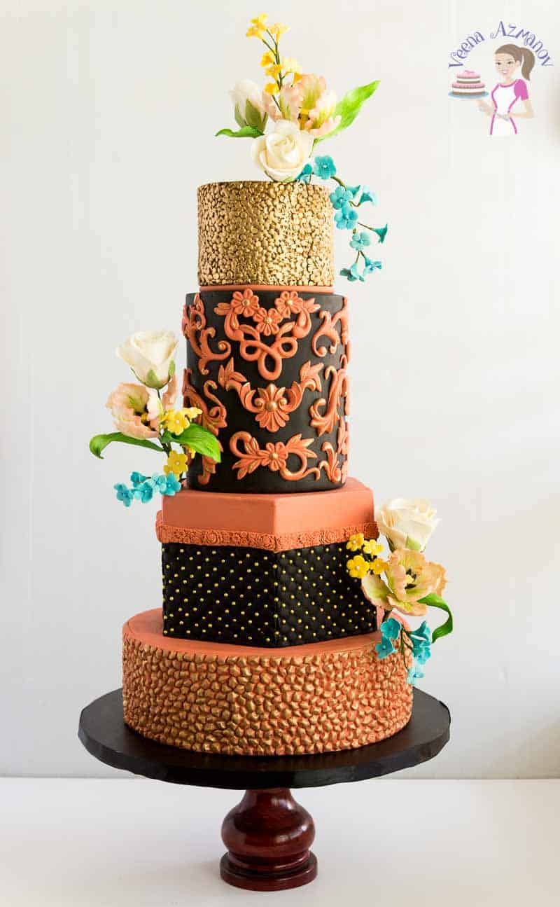 Copper Simpress Wedding Cake