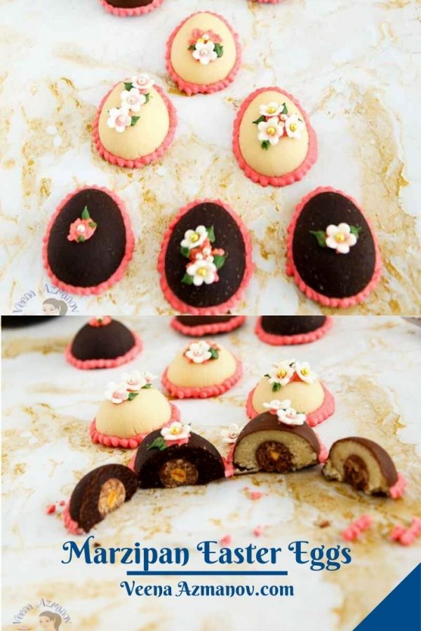 Pinterest image for marzipan eggs.